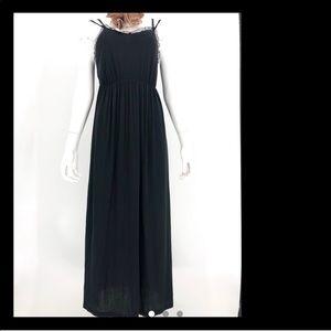 ⛱Brandy Melville black maxi dress lace straps
